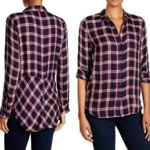 Lucky Brand Bungalow Plaid Button Back Shirt